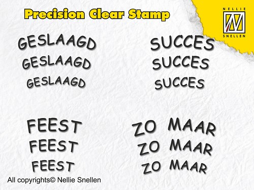 Precision clear stamps Dutch Texts-4
