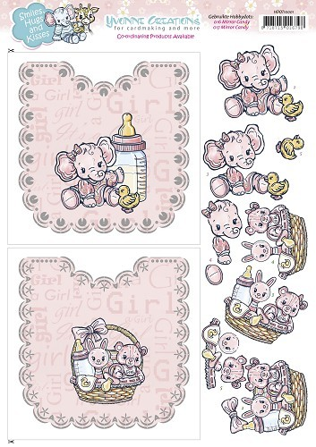 Hobbydots sheet Baby Girl