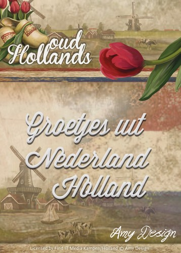 Amy Design Oud Hollands Groetjes uit Nederland - Holland
