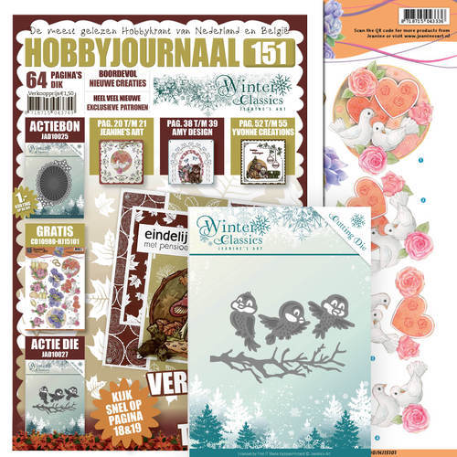 Hobbyjournaal 151 - SET - JAD10027 - Jeanine's Art - Winter Classics - Winter Birds