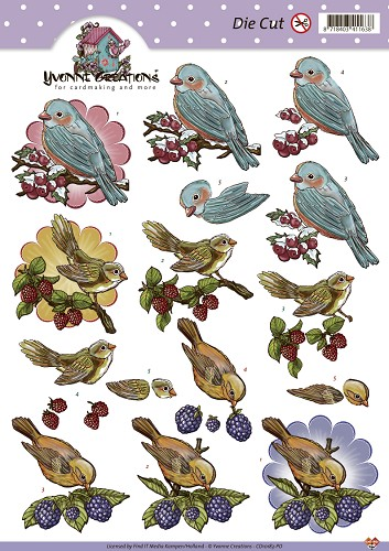 Yvonne Creations Die Cut - vogels