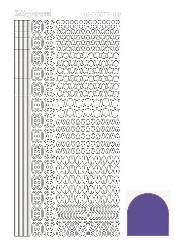 Hobbydots sticker - Mirror - Violet