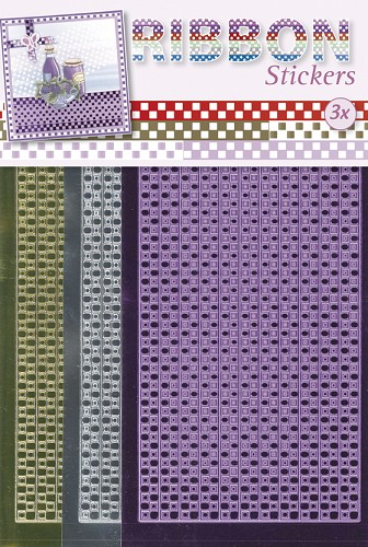 Ribbon stickers Gingham square