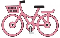 Doily mal Little Pink Bike